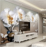 white orchid wallpaper