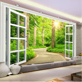 open window wall mural