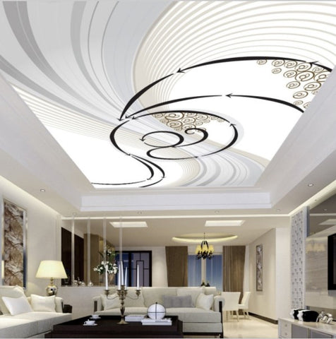 abstract ceiling mural