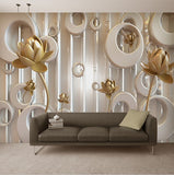 lotus flower wall mural