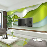 green trees abstract wall mural