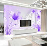 wallpaper purple lilies