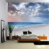 cloudy sky beach wall mural