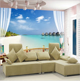 seaview beach wall mural