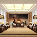 brown horses wall mural