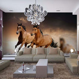 3d wallpaper brown horses