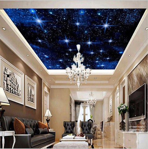 starry night ceiling wallpaper