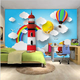 cartoon lighthouse wall mural