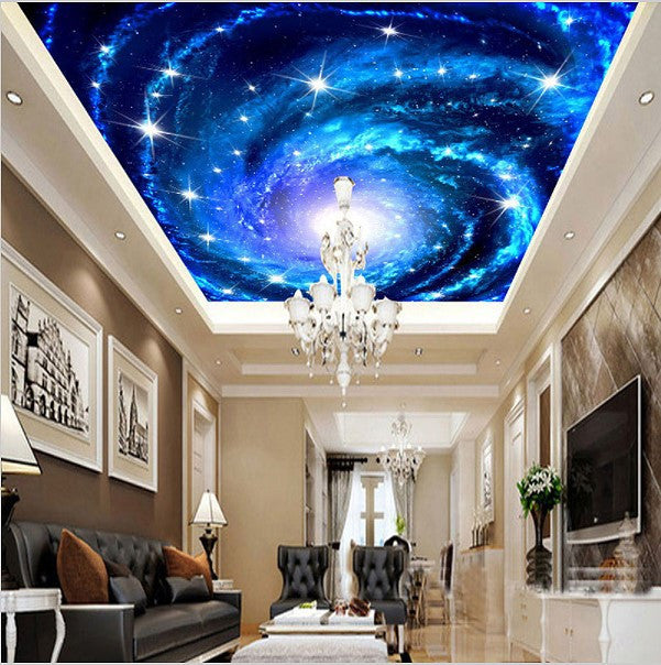 Custom 3D Galaxy Stars Universe Ceiling Wallpaper Home Or