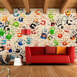 graffiti handprints wallpaper
