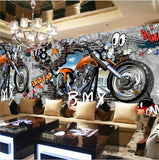 motorcycle graffiti street art wallpaper