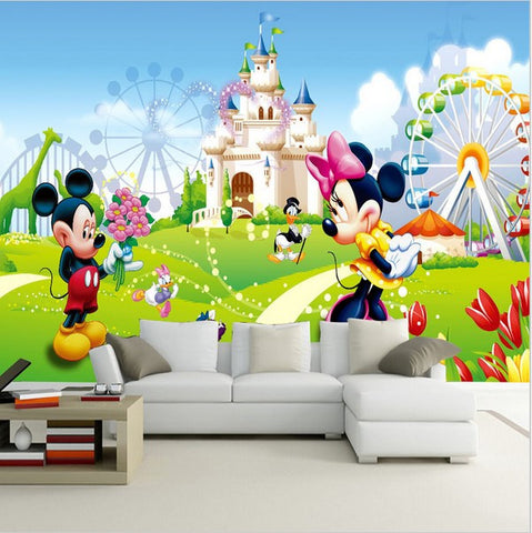 mickey mouse park wall mural