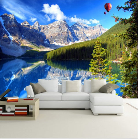 snowy mountains wall mural