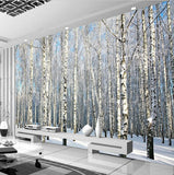 birch tree forest wallpaper for walls