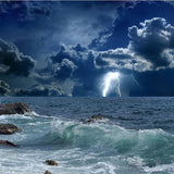 lightning storm ocean wallpaper