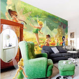 tinkerbell cartoon wall mural