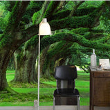 wall mural green forest