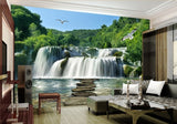 3d waterfall wall paper