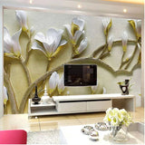 3d relief lilies wall mural