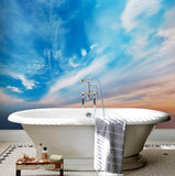 self adhesive abstract blue sky beach wall mural