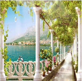 balcony expansion space nature scene wall mural