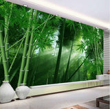 bamboo trees spa wall mural