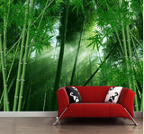 bamboo forest spa mural
