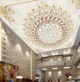 ceiling wallpaper chandelier