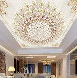 chandelier wallpaper for ceiling