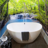 peel and stick forest bathroom wallpaper
