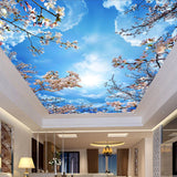cherry blossom clouds ceiling wallpaper
