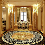 ornate marble floor self-adhesive mural
