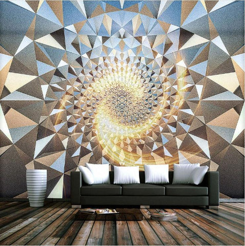 spiral geometric shapes wallpaper