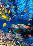sea turtle underwater self-adhesive floor wallpaper