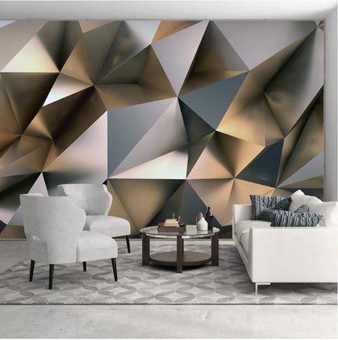 silver geometric shapes wallpaper
