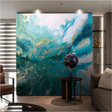 abstract landscape ink splash mural