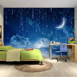 starry night wall mural