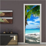 door tropical scene wallpaper