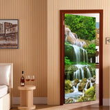 waterfall rocks mural