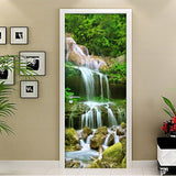 mural door waterfall