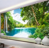 waterfall lake mural