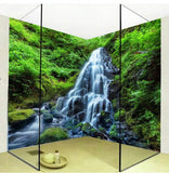 self adhesive green forest bathroom mural