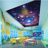 stars universe ceiling mural