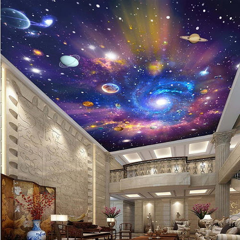 galaxy stars ceiling wallpaper