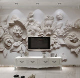 wallpaper 3d relief flowers
