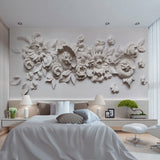 3d relief flowers wallpaper