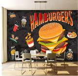 chicken fast food drawing mural