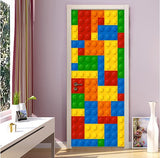 lego bricks door wall mural