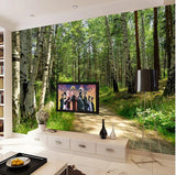 birch trees wall paper