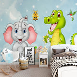 cartoon dragon wall mural